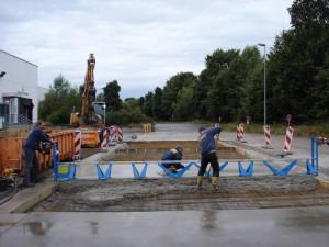 Straßenbau Betonfahrbahn
